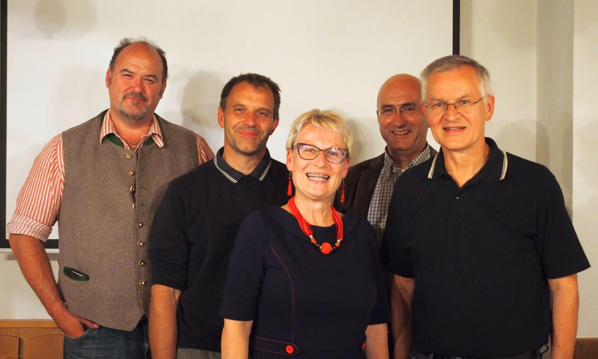 Vl: Willy Weber, Hans Gruber, Monika Tauber-Spring, Norbert Scheuerer, Manfred Hofmeister